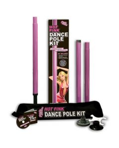 Hot Pink Dance Pole Kit - Strippestang