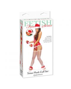 Xmas Plush Cuff Set