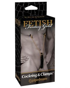 Cockring & Clamps Fetish Fantasy Gold Line by Pipedream Products